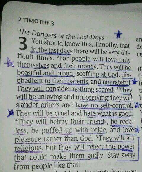 2nd timothy 3